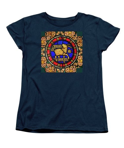 Women's T-Shirt (Standard Cut) featuring the digital art Capricorn by Asok Mukhopadhyay