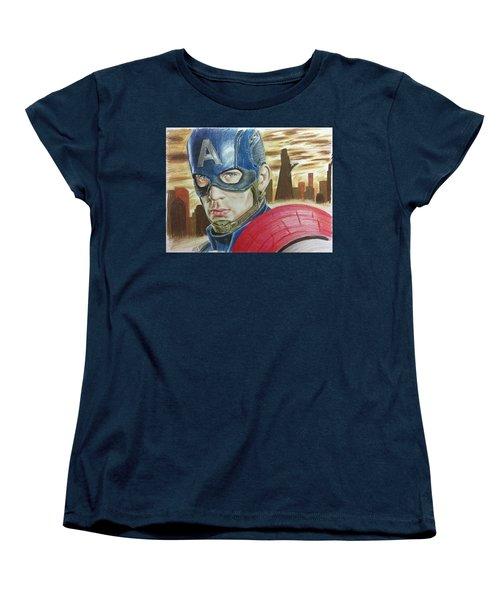 Captain America Women's T-Shirt (Standard Cut)