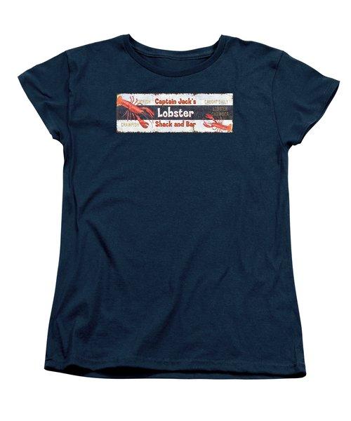 Captain Jack's Lobster Shack Women's T-Shirt (Standard Cut) by Debbie DeWitt