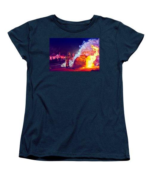 Car Arson  Women's T-Shirt (Standard Cut) by TC Morgan