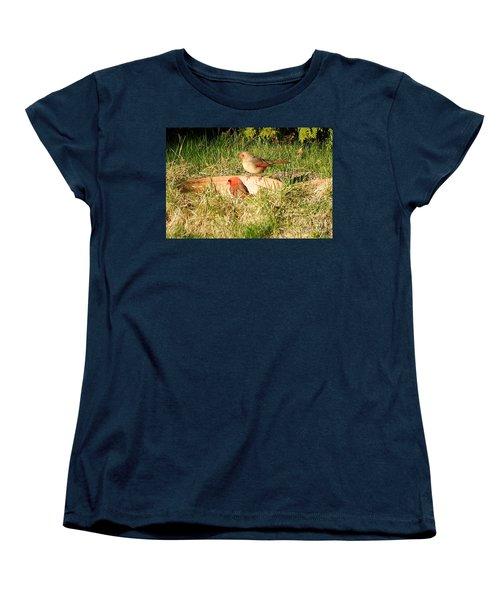 Cardinals Women's T-Shirt (Standard Cut) by Vicky Tarcau