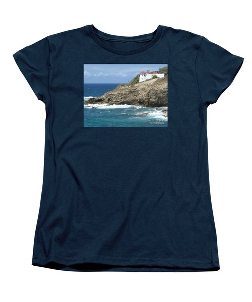 Caribbean Coastal Villa Women's T-Shirt (Standard Cut) by Margaret Brooks