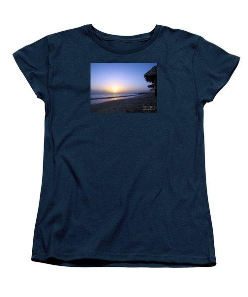 Caribbean Sunrise Women's T-Shirt (Standard Cut) by Cedric Hampton