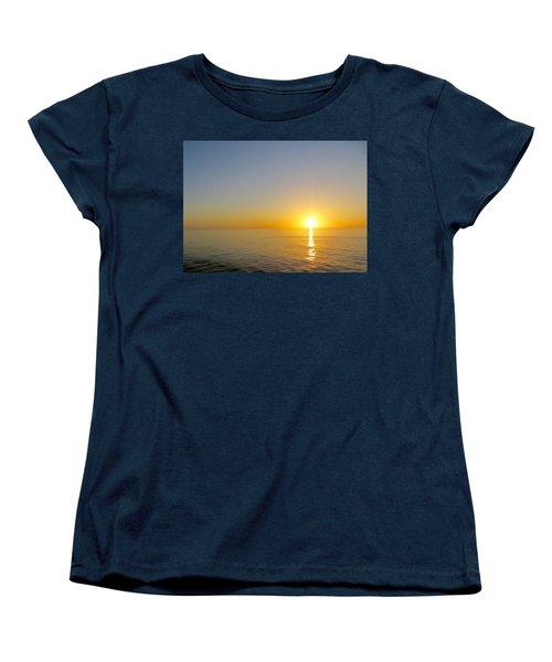 Caribbean Sunset Women's T-Shirt (Standard Cut) by Teresa Wing