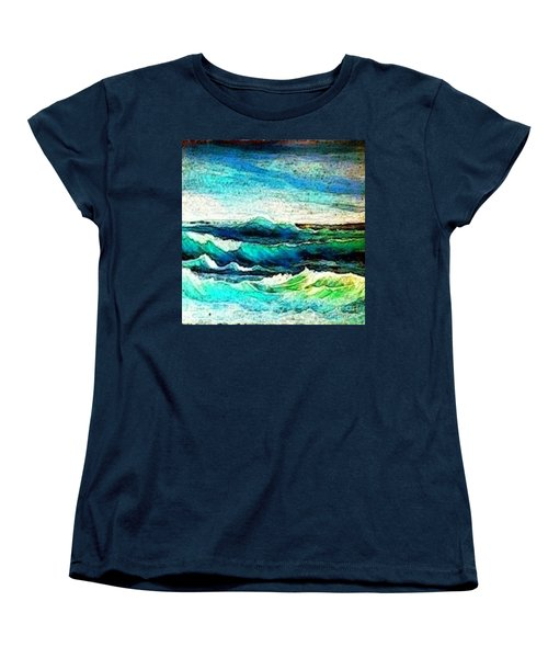 Caribbean Waves Women's T-Shirt (Standard Cut) by Holly Martinson