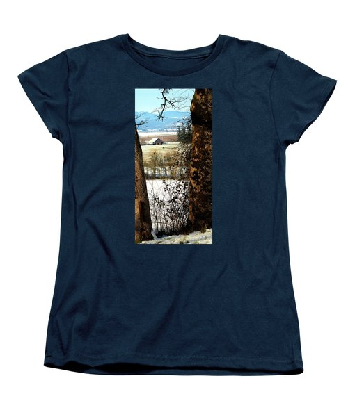 Carlton Barn Women's T-Shirt (Standard Cut) by Jerry Sodorff