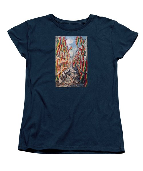 Carnival In The Grote Gracht In Maastricht Women's T-Shirt (Standard Cut) by Nop Briex