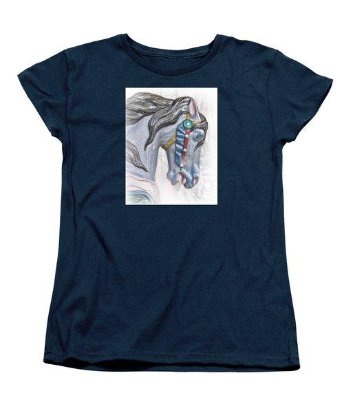 Carousel Star Women's T-Shirt (Standard Cut) by David and Carol Kelly