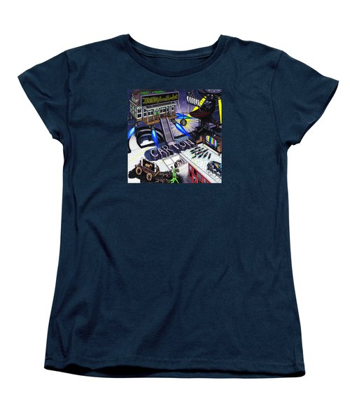 Women's T-Shirt (Standard Cut) featuring the drawing Carton Album Cover Artwork Front by Richie Montgomery