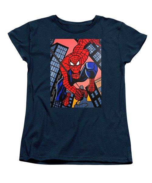 Cartoon Spiderman Women's T-Shirt (Standard Cut) by Nora Shepley