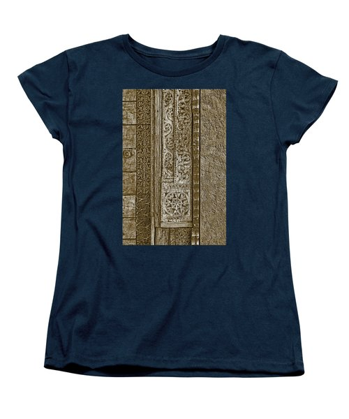 Women's T-Shirt (Standard Cut) featuring the photograph Carving - 6 by Nikolyn McDonald