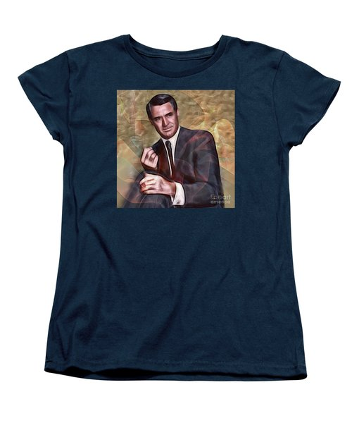 Cary Grant - Square Version Women's T-Shirt (Standard Cut) by John Robert Beck