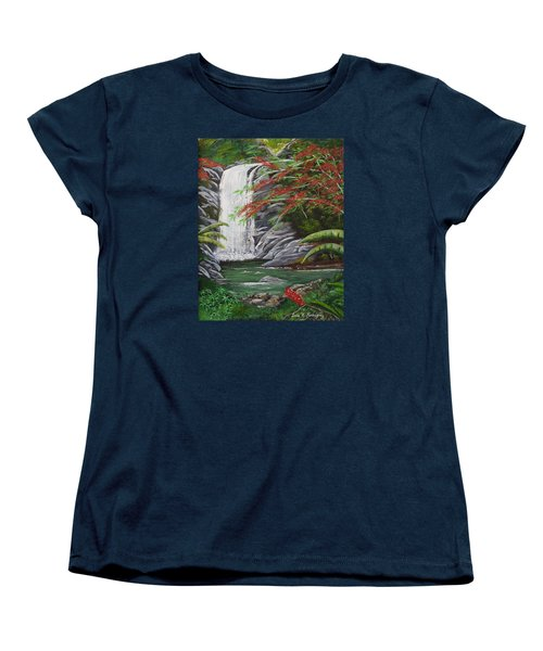 Cascada Tropical Women's T-Shirt (Standard Cut) by Luis F Rodriguez