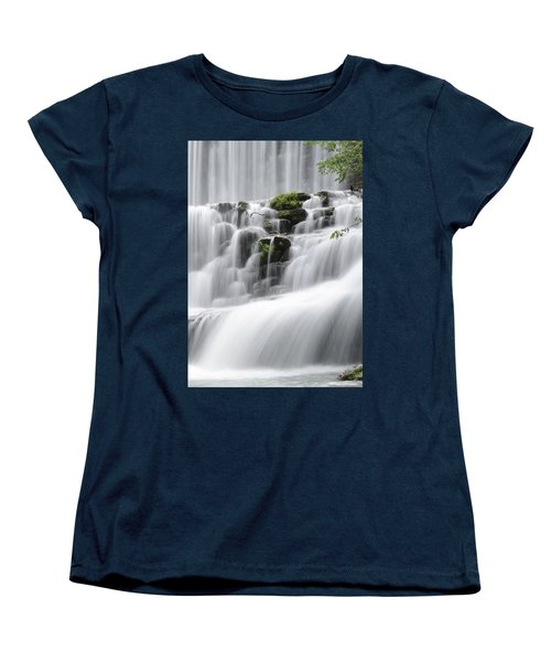 Women's T-Shirt (Standard Cut) featuring the photograph Cascading Mirror Lake Falls by Renee Hardison