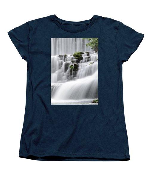 Cascading Mirror Lake Falls Women's T-Shirt (Standard Cut)