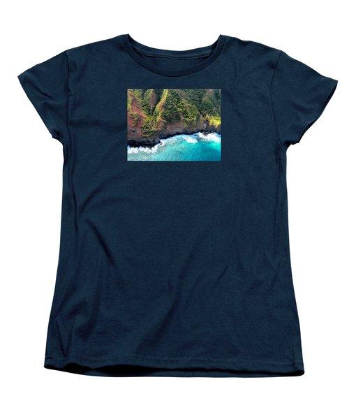 Cascading To The Sea Women's T-Shirt (Standard Cut) by Brenda Pressnall