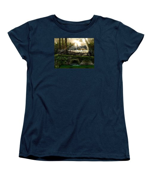 Women's T-Shirt (Standard Cut) featuring the painting Casey Jones by Michael Cleere