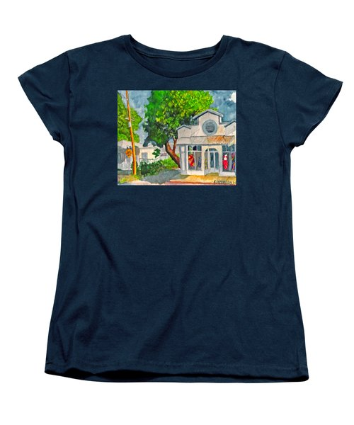 Women's T-Shirt (Standard Cut) featuring the painting Caseys Place by Eric Samuelson