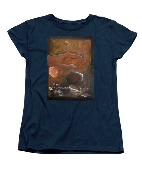 Casting Stones Women's T-Shirt (Standard Cut) by Gary Smith