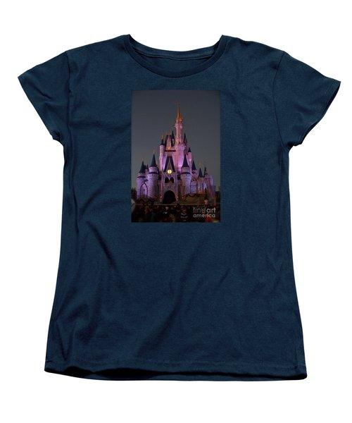 Women's T-Shirt (Standard Cut) featuring the photograph Castle At Twilight by Carol  Bradley