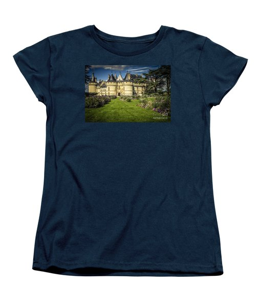 Women's T-Shirt (Standard Cut) featuring the photograph Castle Chaumont With Garden by Heiko Koehrer-Wagner