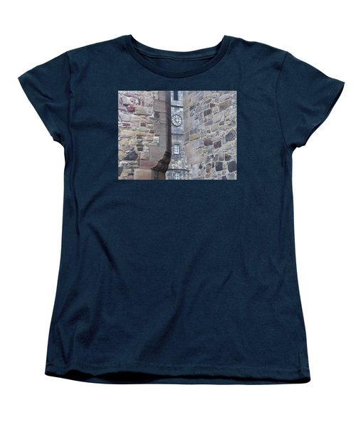 Castle Clock Through Walls Women's T-Shirt (Standard Cut) by Margaret Brooks