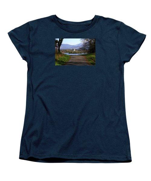 Castle On The Lakes Women's T-Shirt (Standard Cut) by Aidan Moran