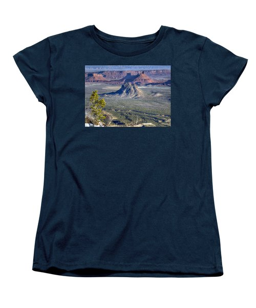 Castle Valley Overlook Women's T-Shirt (Standard Cut) by Alan Toepfer