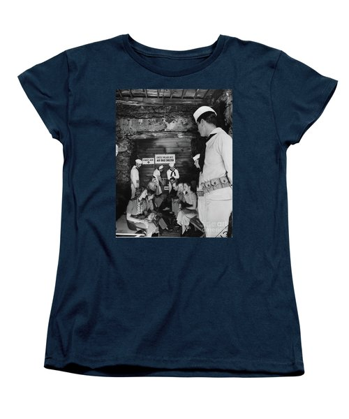 Women's T-Shirt (Standard Cut) featuring the photograph Castle Village Air Raid Shelter by Cole Thompson