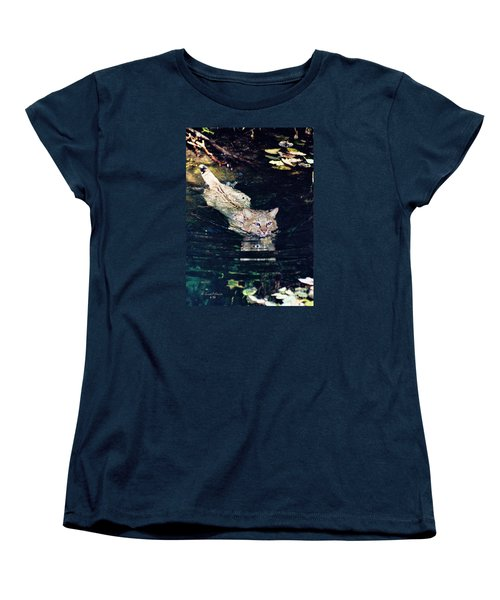 Cat In The Water Women's T-Shirt (Standard Cut) by Ansel Price