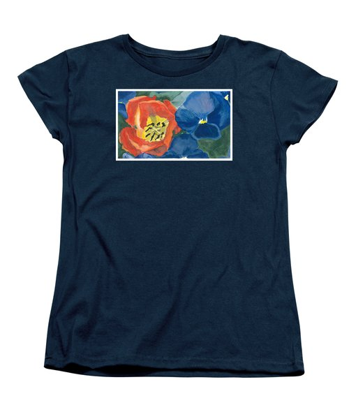 Cat Tulip Women's T-Shirt (Standard Cut) by Joel Deutsch