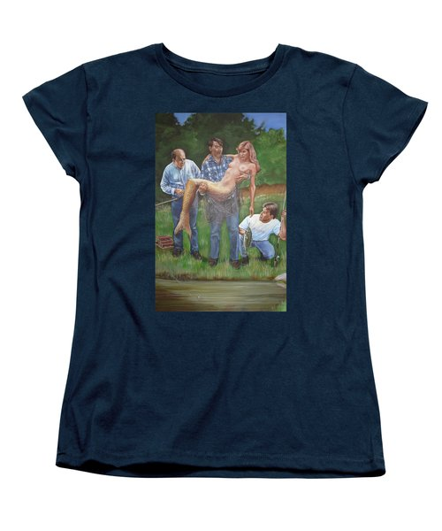 Catch Of The Day Women's T-Shirt (Standard Cut) by Bryan Bustard