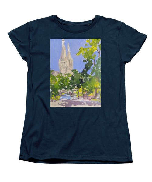 Cathedral Women's T-Shirt (Standard Cut) by Rodger Ellingson