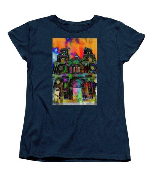 Women's T-Shirt (Standard Cut) featuring the photograph Catholic Church At Chordeleg, Ecuador by Al Bourassa
