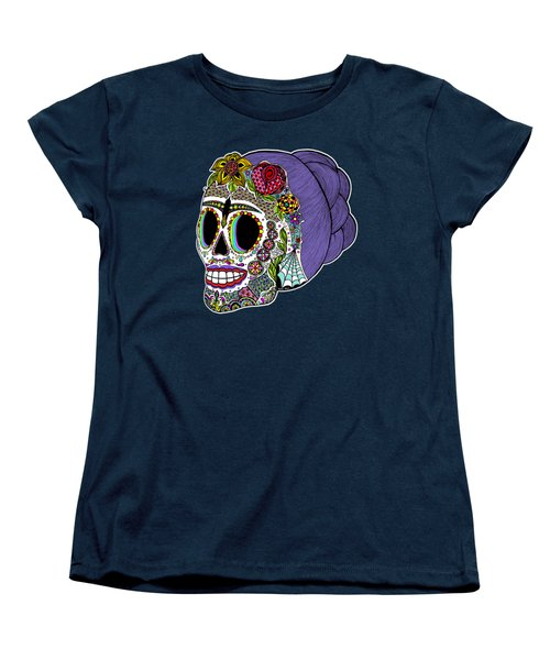 Catrina Sugar Skull Women's T-Shirt (Standard Cut) by Tammy Wetzel
