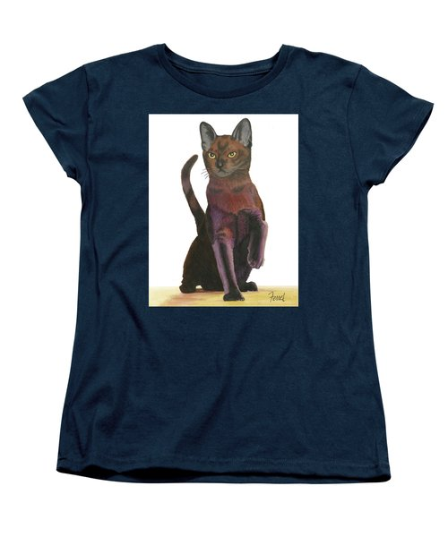 Cats Meow Women's T-Shirt (Standard Cut) by Ferrel Cordle