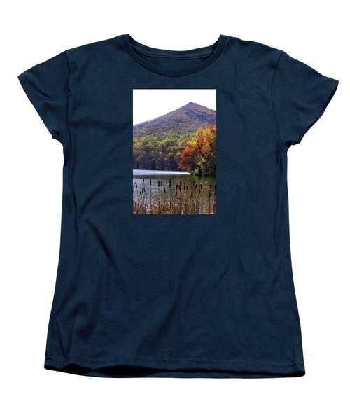 Cattails By Lake With Sharp Top In Background Women's T-Shirt (Standard Cut)