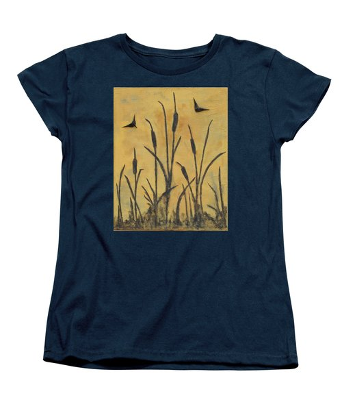 Cattails I Women's T-Shirt (Standard Cut) by Trish Toro
