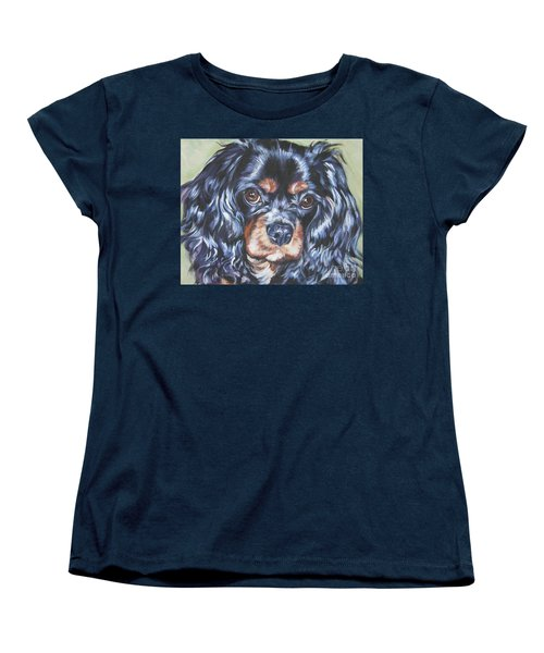 Cavalier King Charles Spaniel Black And Tan Women's T-Shirt (Standard Cut) by Lee Ann Shepard