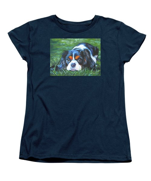 Cavalier King Charles Spaniel Tricolor Women's T-Shirt (Standard Cut) by Lee Ann Shepard