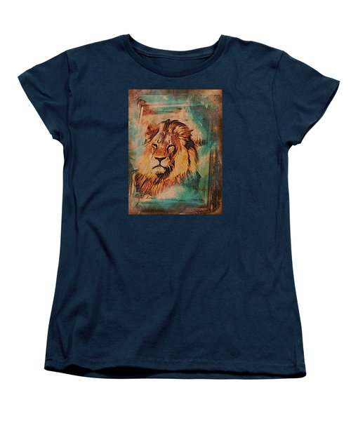 Women's T-Shirt (Standard Cut) featuring the digital art Cecil The Lion by Kathy Kelly