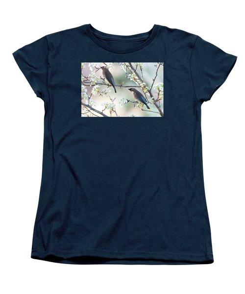 Cedar Wax Wing Pair Women's T-Shirt (Standard Cut) by Jim Fillpot