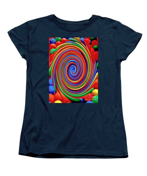 Celebrate Life And Have A Swirl Women's T-Shirt (Standard Cut) by Carol F Austin
