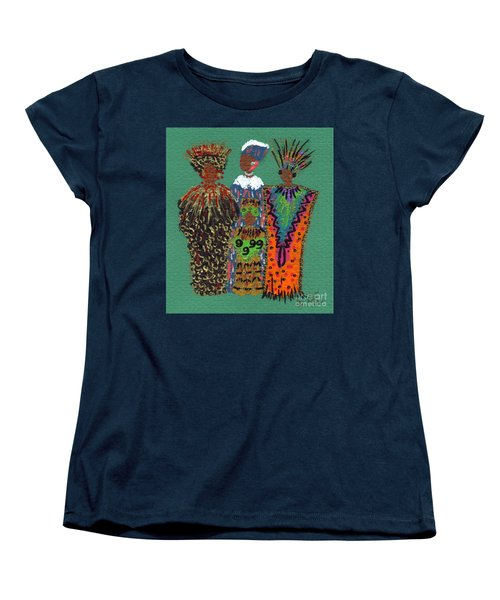 Women's T-Shirt (Standard Cut) featuring the mixed media Celebration II by Angela L Walker