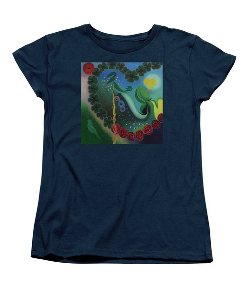 Women's T-Shirt (Standard Cut) featuring the painting Celebration Of Love  by Tone Aanderaa