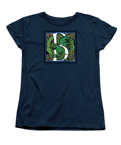 Celt Frogs Letter B Women's T-Shirt (Standard Cut)