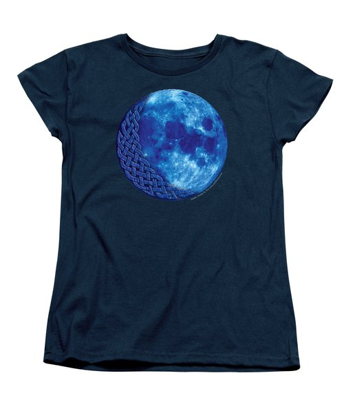 Women's T-Shirt (Standard Cut) featuring the mixed media Celtic Blue Moon by Kristen Fox