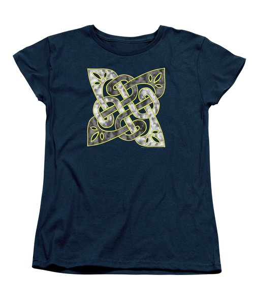 Women's T-Shirt (Standard Cut) featuring the mixed media Celtic Dark Sigil by Kristen Fox