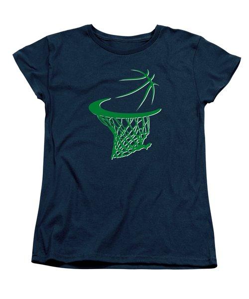 Celtics Basketball Hoop Women's T-Shirt (Standard Cut) by Joe Hamilton