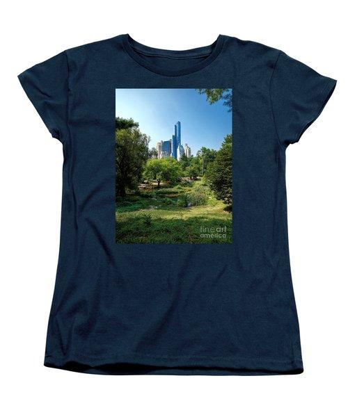Central Park Ny Women's T-Shirt (Standard Cut) by Daniel Heine